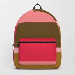 Striped Retro Pink & Brown Blanket Backpack