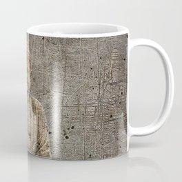 Sitting Buddha On Distressed Metal Background Coffee Mug