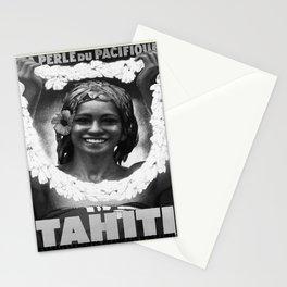 retro noir et blanc Tahiti Stationery Cards
