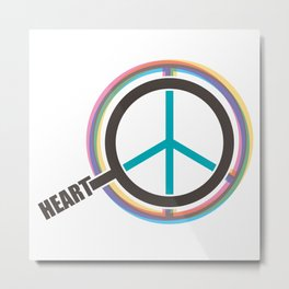 Finding The Peace From Our Heart Metal Print