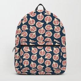 Pomegranate Fruit Navy Blue Backpack