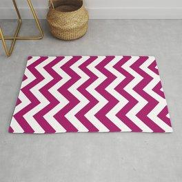 Jazzberry jam - violet color - Zigzag Chevron Pattern Rug