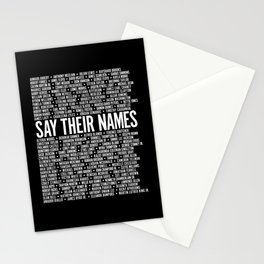 Say Their Names Activist Stationery Cards