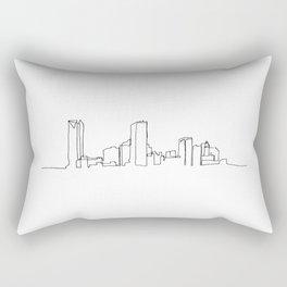 Oklahoma City Skyline Drawing Rectangular Pillow