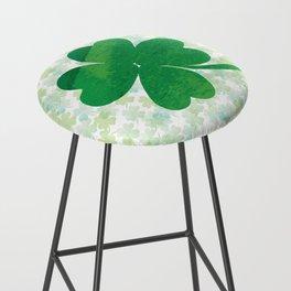 Lucky Watercolor Clovers Bar Stool