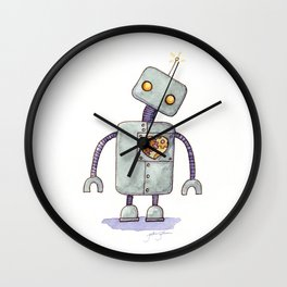 Robot With A Heart Wall Clock