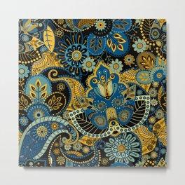 Khokhloma floral pattern Metal Print