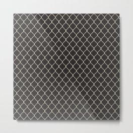 Quatrefoil Seaside Stone Metal Print