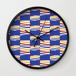 Bright Kente Cloth 7 Wall Clock
