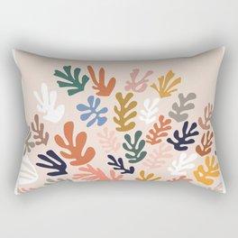 Matisse cutouts abstract drawing,matisse poster,matisse print, female abstract art, eclectic art Rectangular Pillow