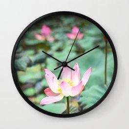 Lotus Flower Garden Bali Wall Clock