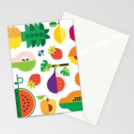 Fruit Medley White Stationery Cards