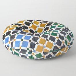 Alhambra Tiles Floor Pillow