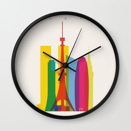 Shapes of Tokyo. Accurate to scale. Wall Clock