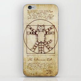 Vitruvian Cat iPhone Skin