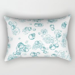 Arabidopsis protoplast cell microscopy pattern teal on white Rectangular Pillow
