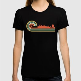 Retro Ithaca New York Skyline T-shirt
