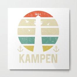 Kampen Beacon Vacation TShirt North Sea Shirt Nordsee Gift Idea  Metal Print