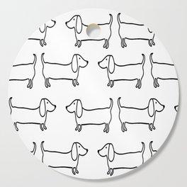 Dachshund in black-white Cutting Board