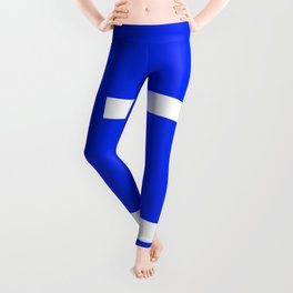 Abstract Minimal Retro Stripes Blue Leggings