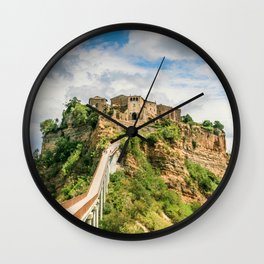 Village in the clouds Wall Clock