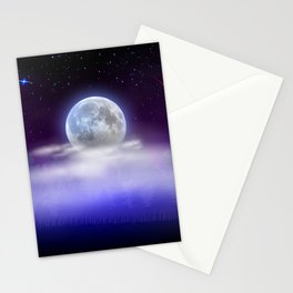 Magical starry night Stationery Cards