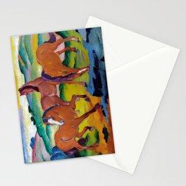 Franz Marc - Weidende Pferde IV - Grazing Horses IV - 4 Stationery Cards
