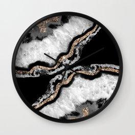 Yin Yang Agate Glitter Glam #8 #gem #decor #art #society6 Wall Clock