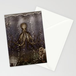 Octopus' lair - Old Photo Stationery Cards