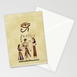Calling to the Gods Egyptian Folk Art Stationery Cards