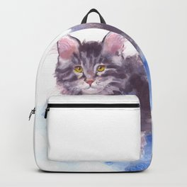 Azure Purr Backpack