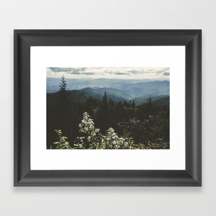 Smoky Mountains - Nature Photography Gerahmter Kunstdruck