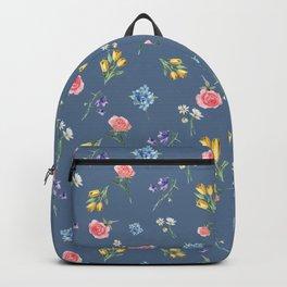 Spring Time Floral Pattern Backpack