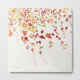 Vines Watercolor Metal Print