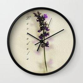 Purple Lavender Wall Clock