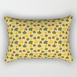 Autumn Hops Leaves Tan Rectangular Pillow