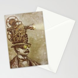 The Projectionist (sepia option) Stationery Cards