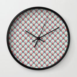 Bulbuous CHERRY MINT Wall Clock