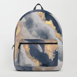 All that Shimmers – Gold + Navy Geode Backpack