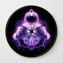 Purple Buddhabrot Fractal Art Wall Clock