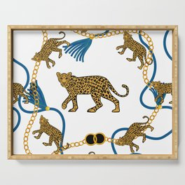 Leopard & chains Serving Tray