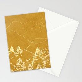 Minimalist Landscape Line Art III Stationery Cards