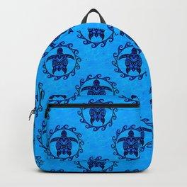 Tribal Turtle Sun Pattern Backpack