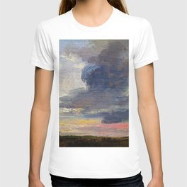 Johan Christian Dahl - Cloud Study Over Flat Landscape - Digital Remastered Edition T-shirt
