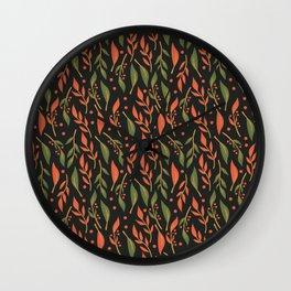 Vintage Floral Pattern 011 Wall Clock