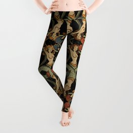 Twisted Mermaids Pattern Leggings