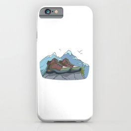 Mountain hiking boots iPhone Case