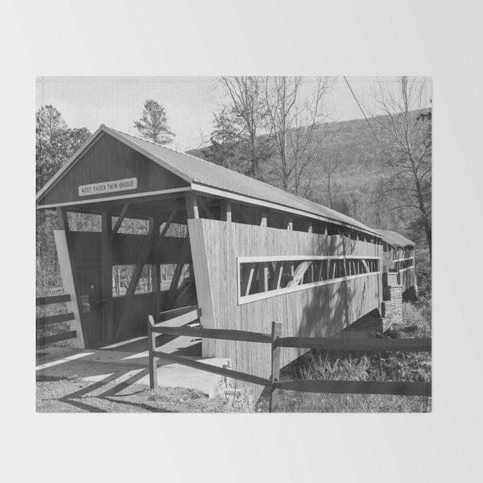 East and West Paden Twin Bridge Throw Blanket