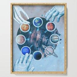 Coffee Mug Solar System by GEN Z Serving Tray