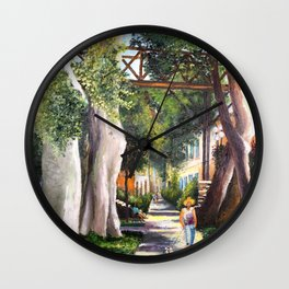 Bridge of sighs painting in Barranco - Lima, Peru #eclecticart Wall Clock